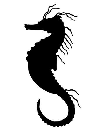 hippocampus: Seahorse Silhouette