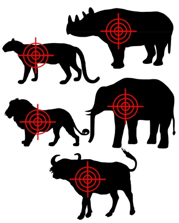 Big Five cross hairs Vector