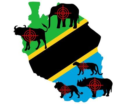 big five: Tanzania cinque grandi attraversare le linee