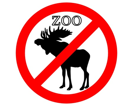 petting zoo: Moose in zoo prohibited Illustration