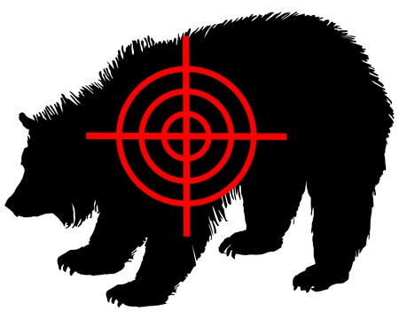 Grizzly bear crosshair Stock Vector - 9676991