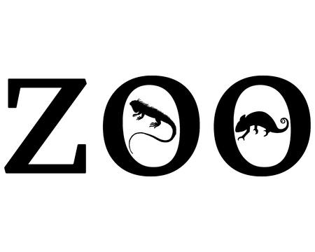 chameleon lizard: Animali da Zoo Vettoriali