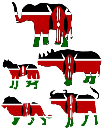Big Five Kenya Vector