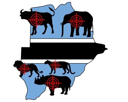 big five: Cinque grandi cross peli Botswana