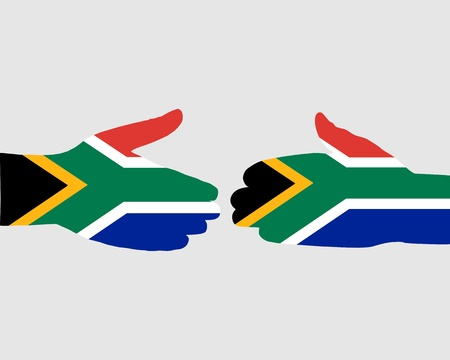 south africa flag: South African handshake