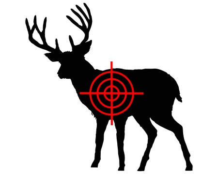 cross hair: Red deer crosshair Illustration