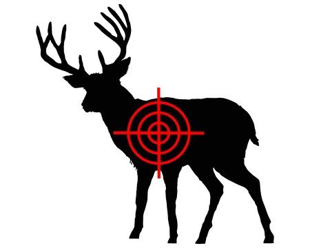 Red deer crosshair 向量圖像