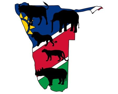 big five: Big Five Namibia  Illustration