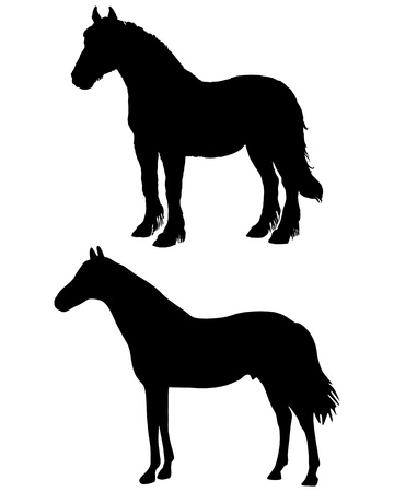 draught: Horses silhouettes