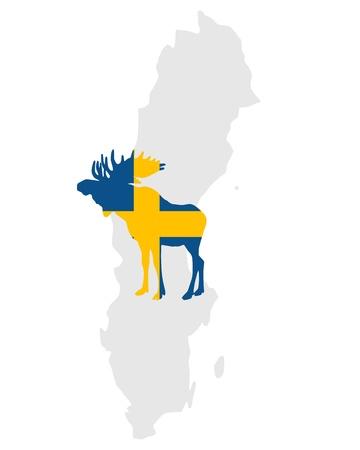 swedish: Swedish moose Illustration
