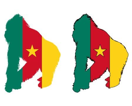 cameroon: Gorilla Cameroon Illustration