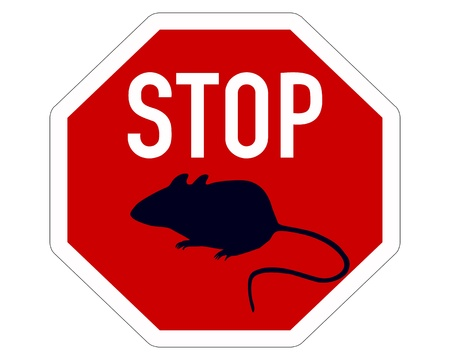 Stop sign for mice Stock Vector - 9829577