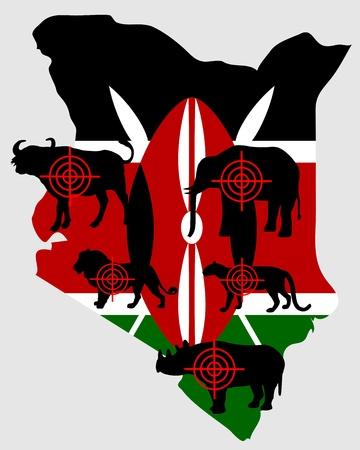 big five: Kenya cinque grandi attraversare le linee