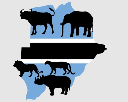 Big Five Botswana Vector