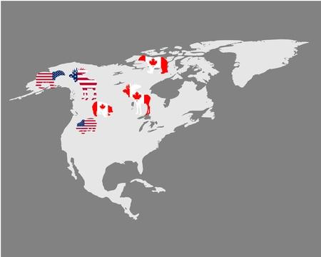 the americas: North Americas animals Illustration