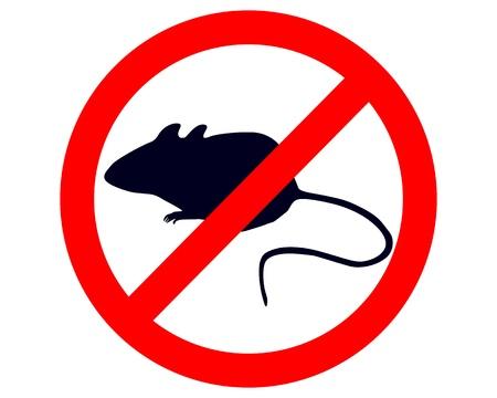 Prohibition sign for mice Vettoriali