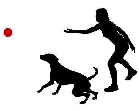 ボールと犬の訓練