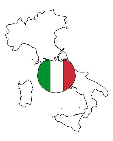 Italian tomato Ilustração