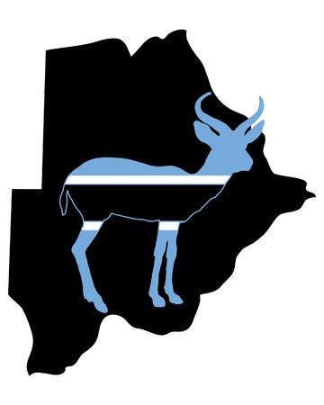 botswana: Botswana antelope Illustration