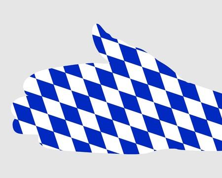 Bavarian handshake Vector