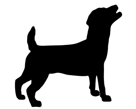 russel: Jack Russel Terrier Silhouette Stock Photo