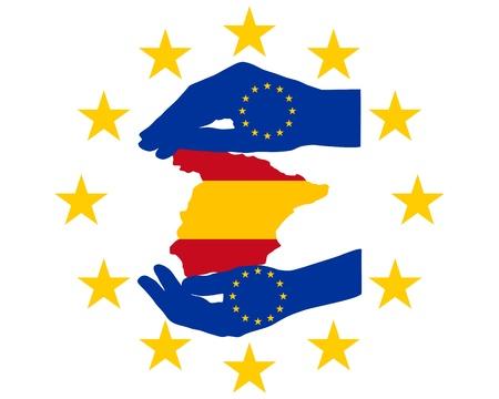 financial emergency: European Help for Spain Illustration