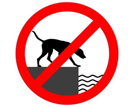 Prohibition sign for dogs