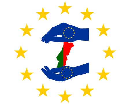 European Help for Portugal Vector