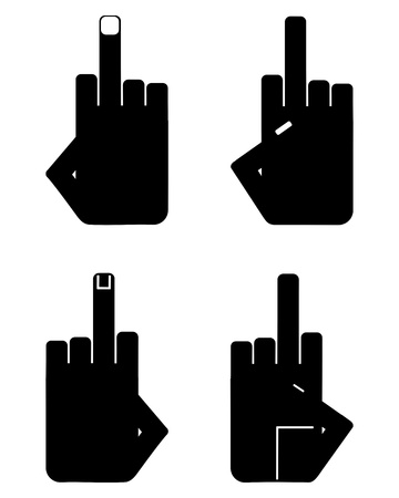 Hand sign insult Stock Vector - 17301224