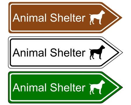 animal shelter: Sign animal shelter Illustration