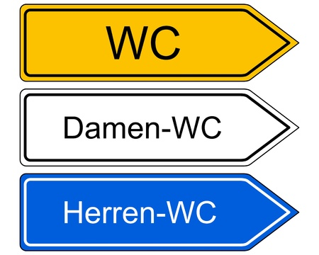 wc: Direction sign WC