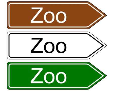petting zoo: Direction sign zoo
