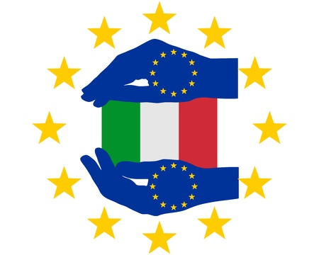 financial emergency: European Help for Italy Illustration