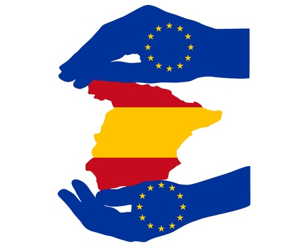 European Help for Spain Stock Vector - 17374721