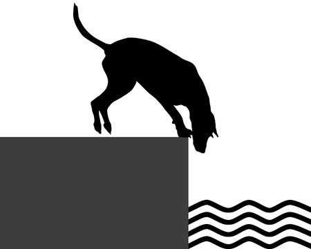 Dog at the shore Stock Vector - 17374708