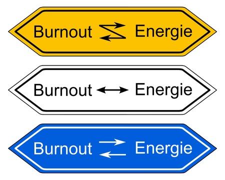 burnout: Direction sign burnout