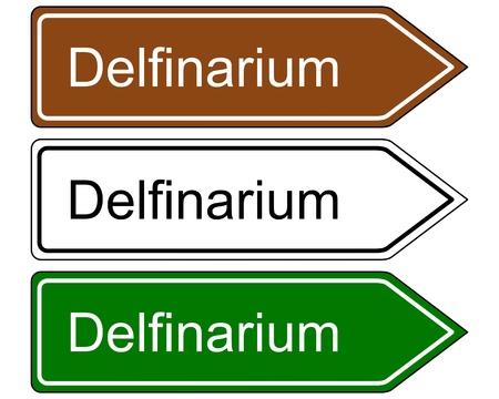 Direction sign dolphinarium Stock Vector - 17374705