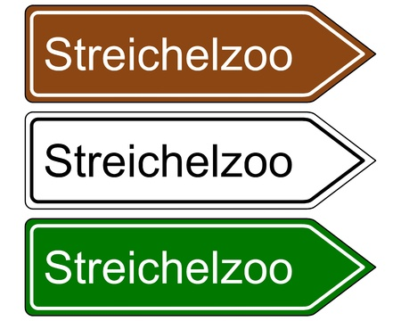 petting zoo: Direction sign children�s zoo