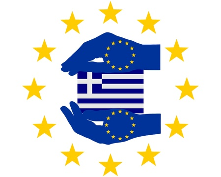 European Help for Greece Vector