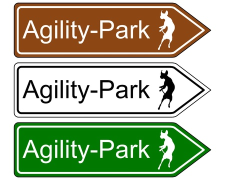 Sign agility park, for dogs Stock Vector - 17755411