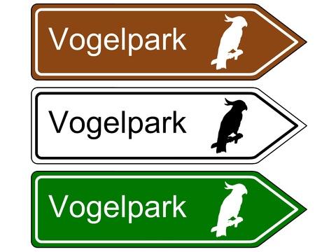 Direction sign bird park Stock Vector - 17755408