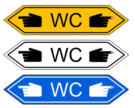 Direction sign WC Stock Vector - 17997103