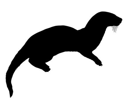 otter: Otter silhouette
