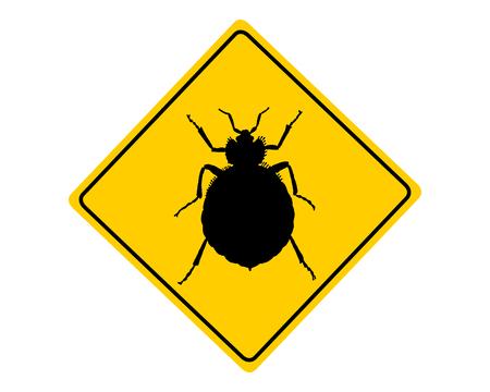 Bed bug avvertimento segno Archivio Fotografico - 26408054