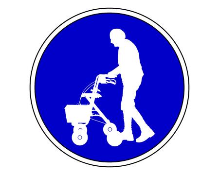 Ouderen toegestaan Stock Illustratie