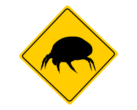mite: House dust mite warning sign