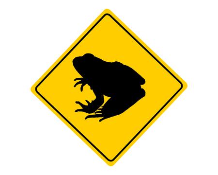 migration: Toad migration warning sign