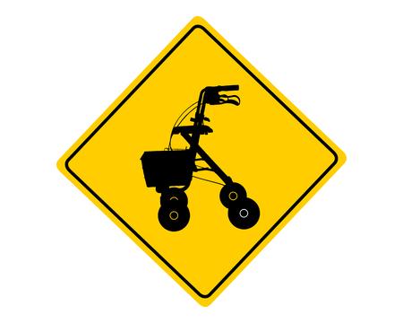 Rollator waarschuwingsbord