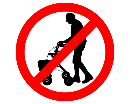 Restricted for elderly people  Vector