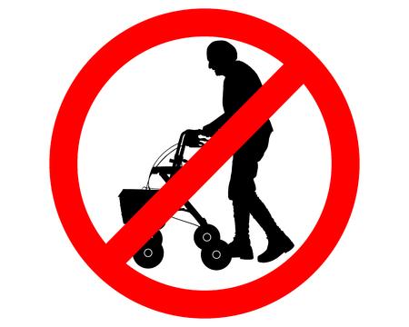 elderly people: Restricted for elderly people